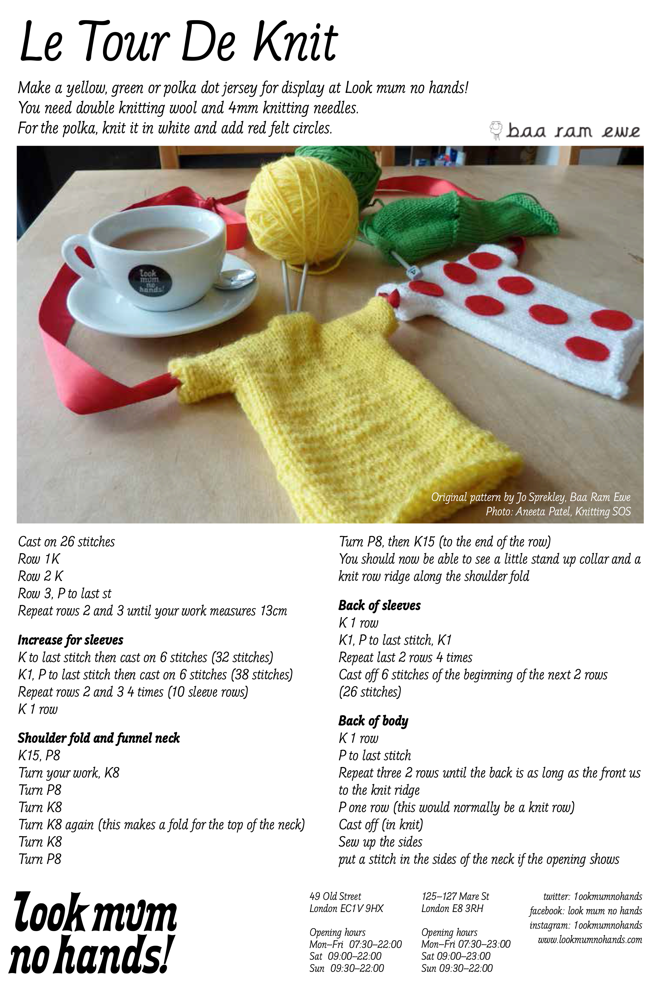 Knit your own mini jersey look mum no hands download the pattern here bankloansurffo Images